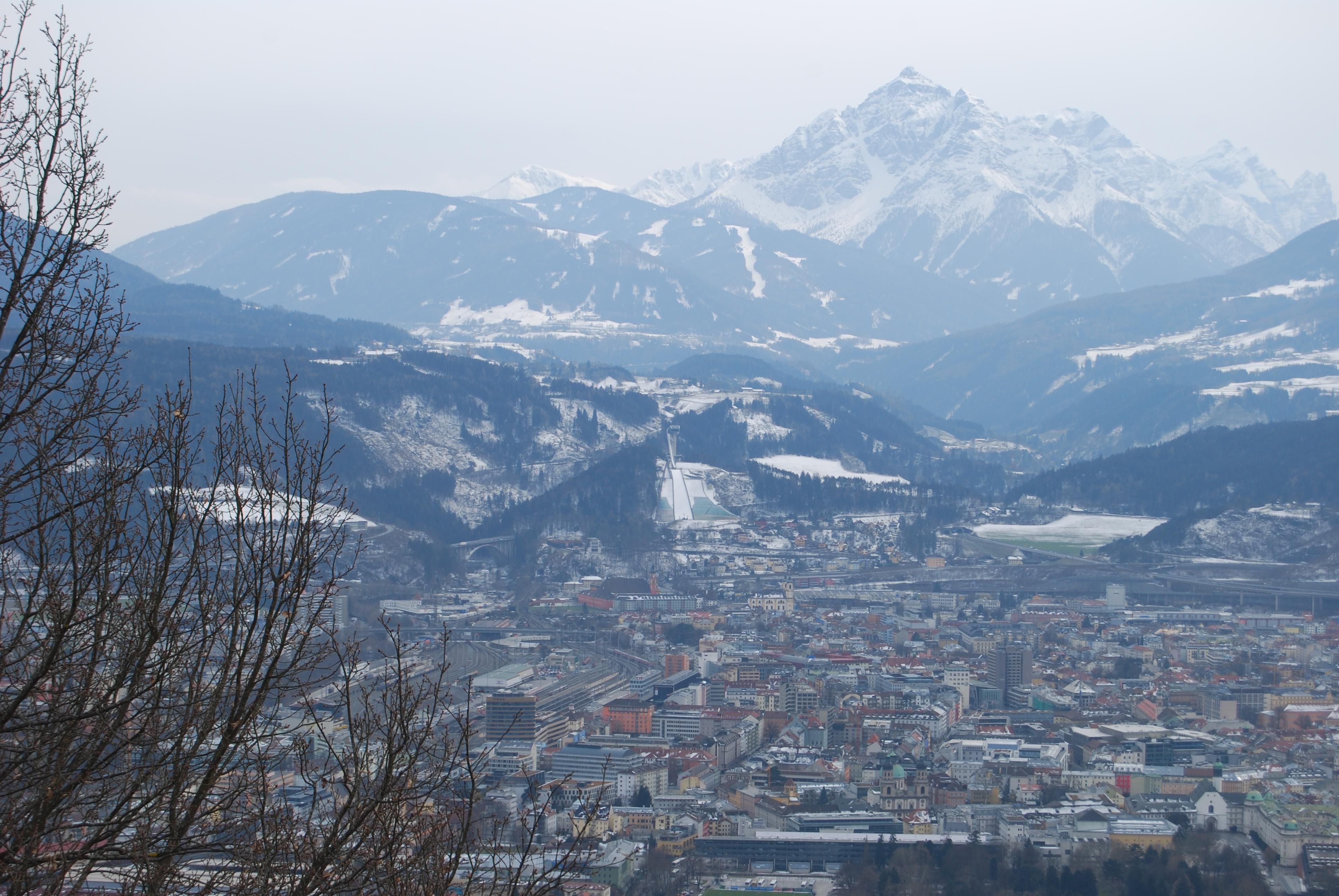 Aussicht auf Innsbruck