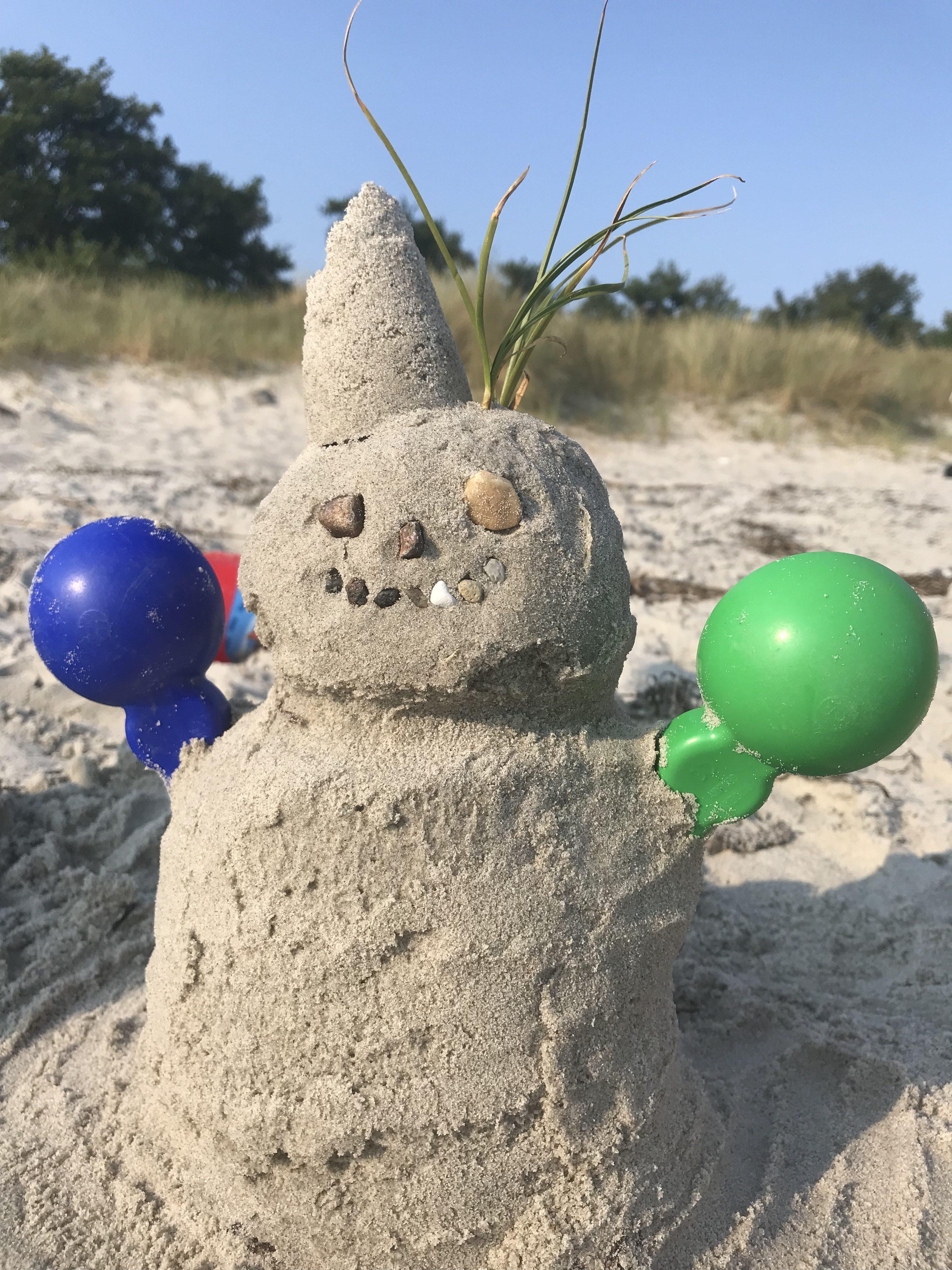 Sandmann auf Fehmarn
