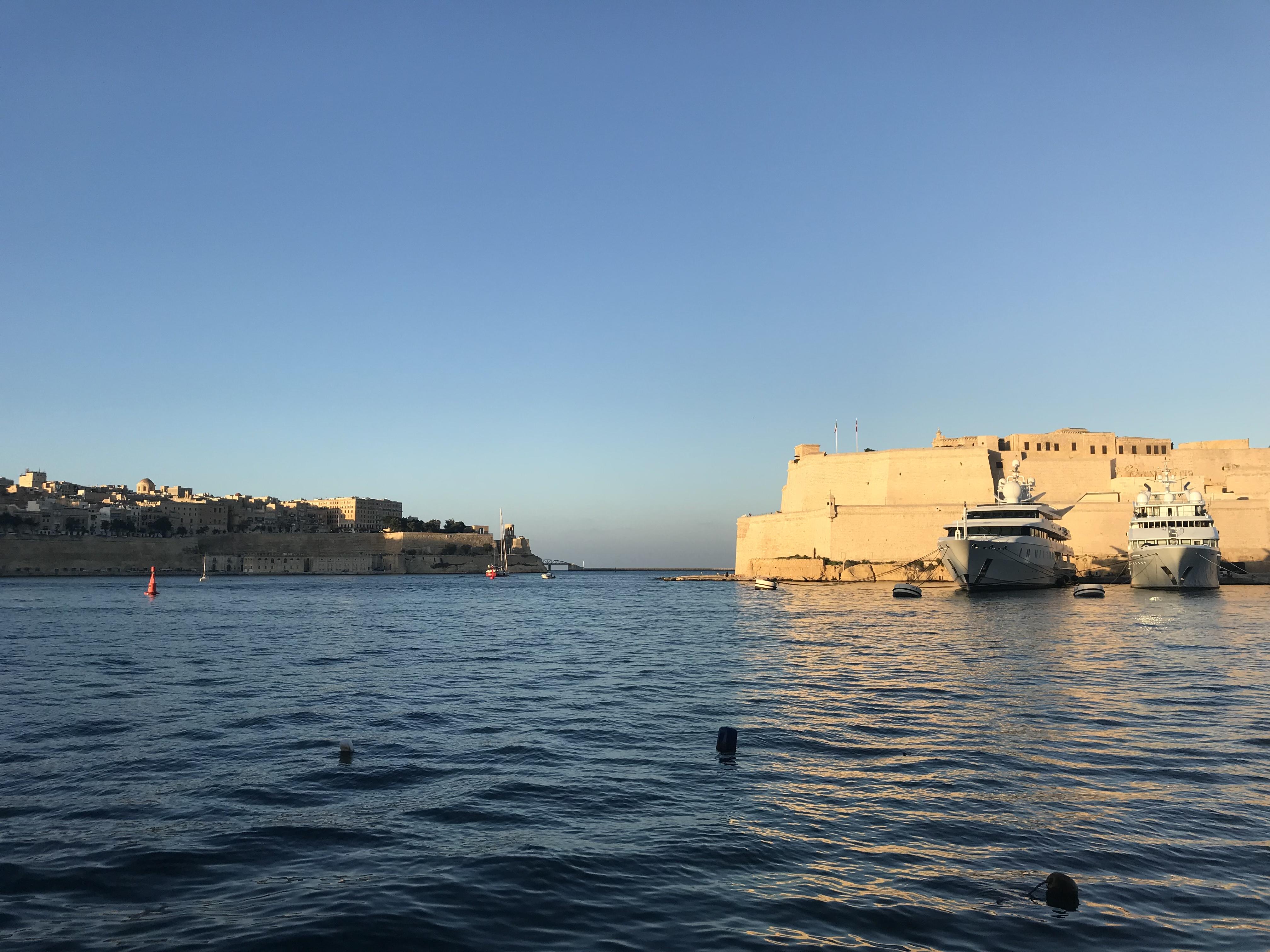 Blick von Sanglea nach Vittoriosa und Valletta