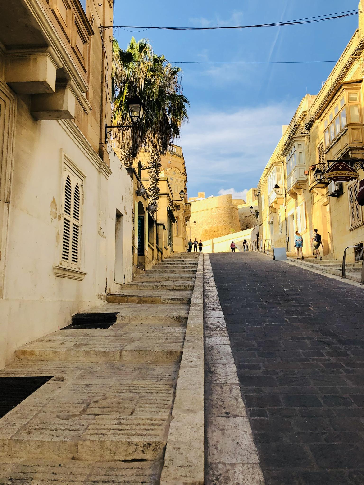 In den Straßen von Victoria, Gozo
