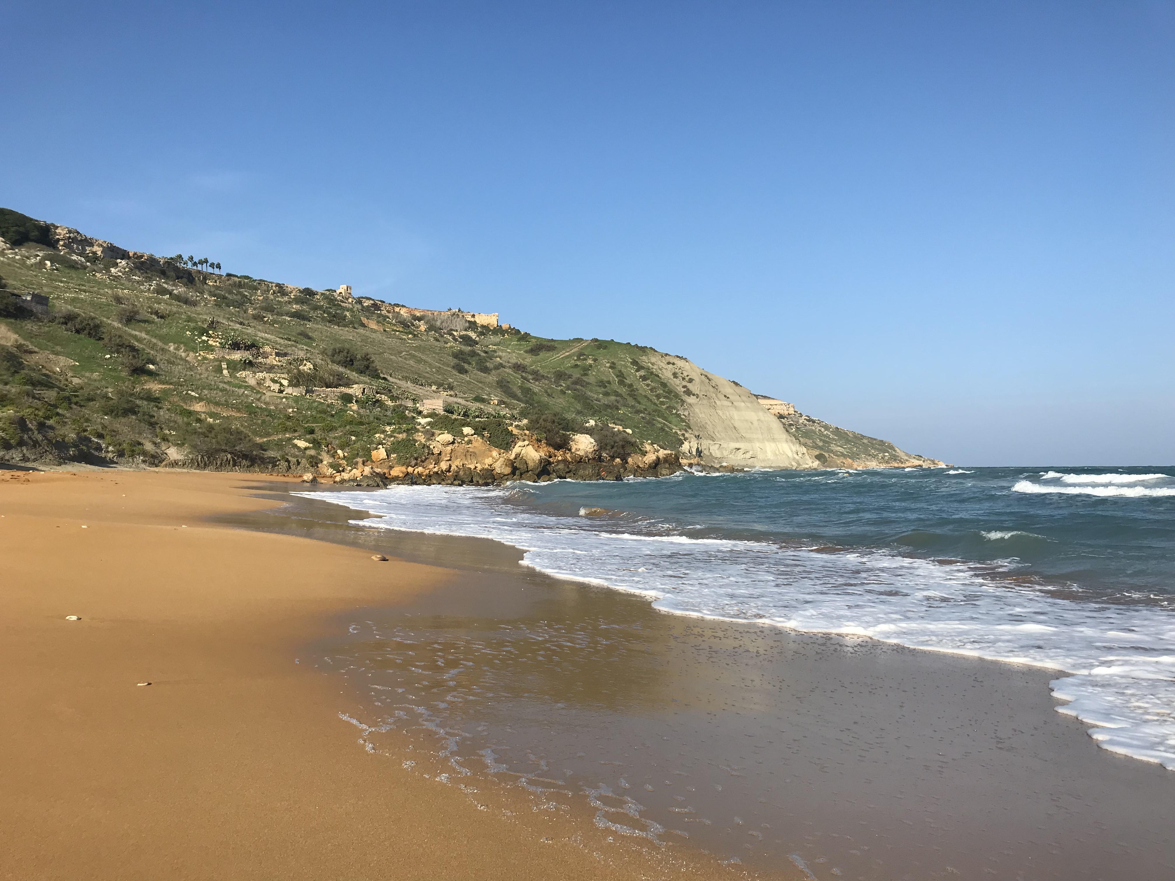 Der goldene Strand von Ramla Bay