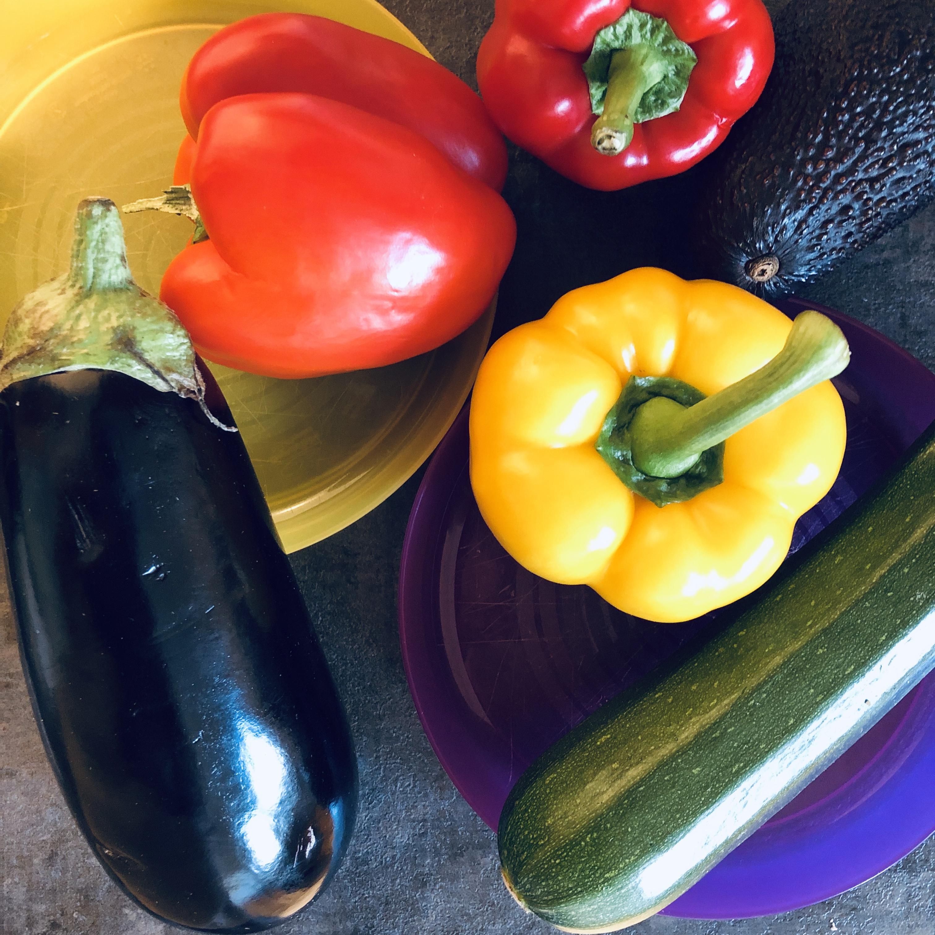 Gemüse auf Kinderteller