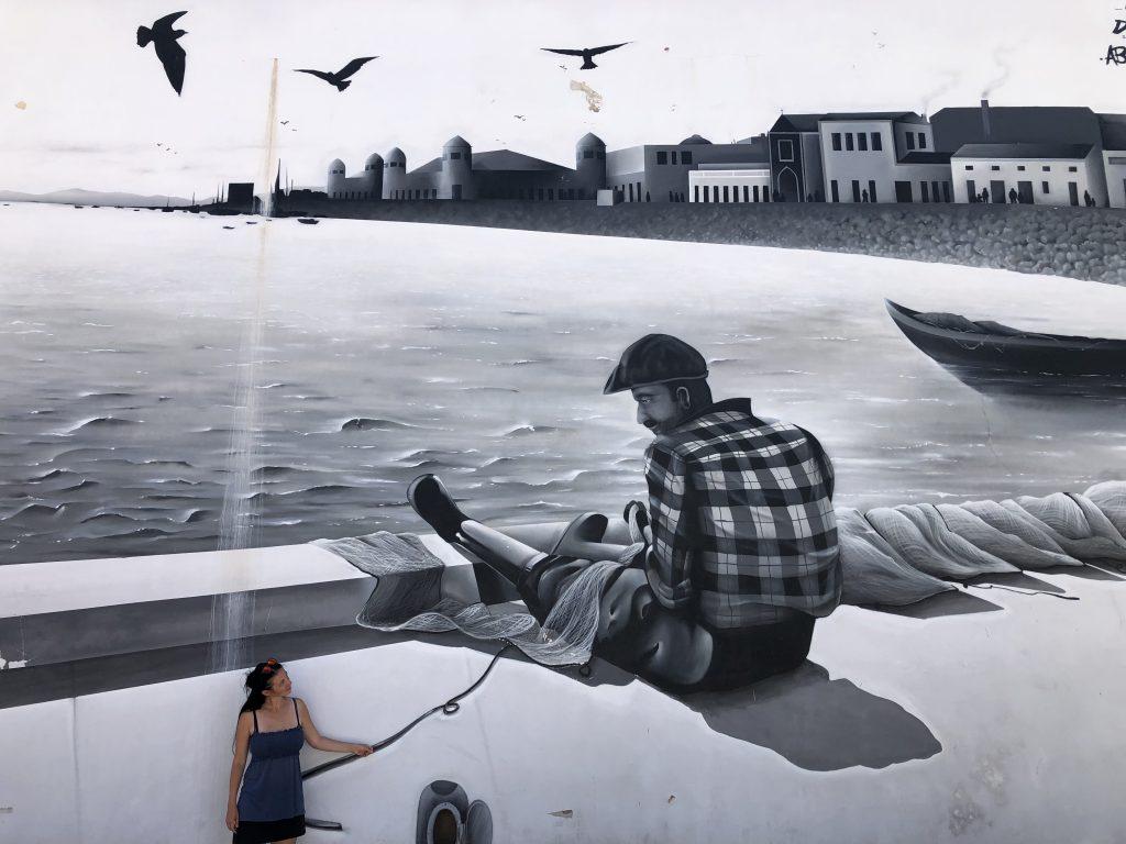 Europa Roadtrip 2019 - Kunst an Häuserwänden in Ohlão