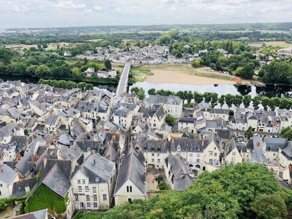 Europa Roadtrip 2019 - Blick von der Burg auf Chinon