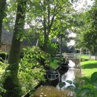 Nebenkanal in Giethoorn