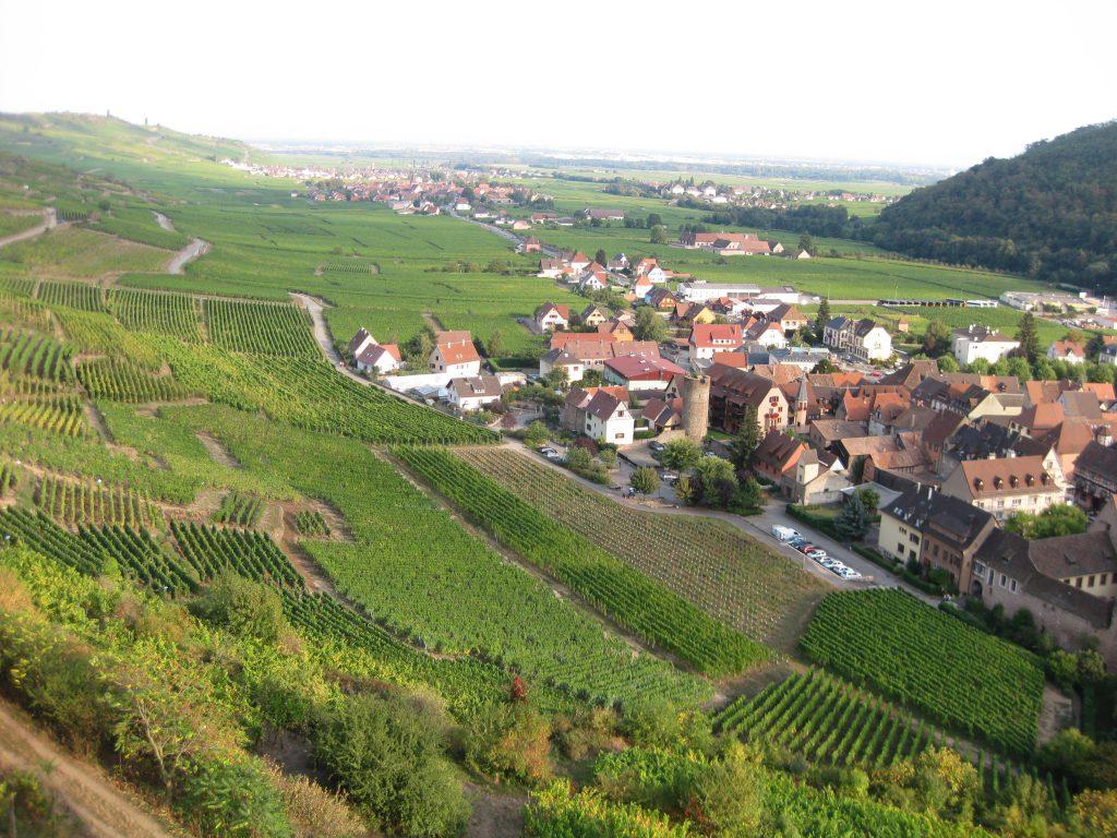 Kaysersberg, Elsass von oben