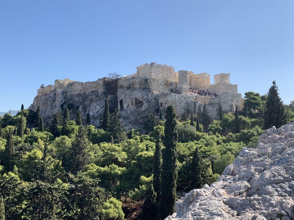 Stadttour durch Athen mit Blick auf die Akropolis