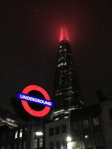 London und The Shard bei Nacht sind ein eindrucksvolles Erlebnis