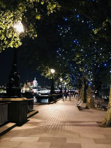 The Themse riverside in London