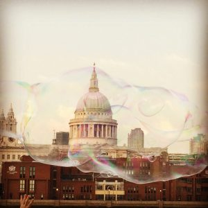 St Paul's Cathedral through a bubble