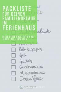 Ferienhaus Packliste